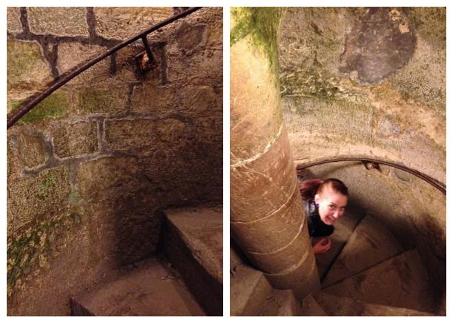 Paris Catacombs Stairs