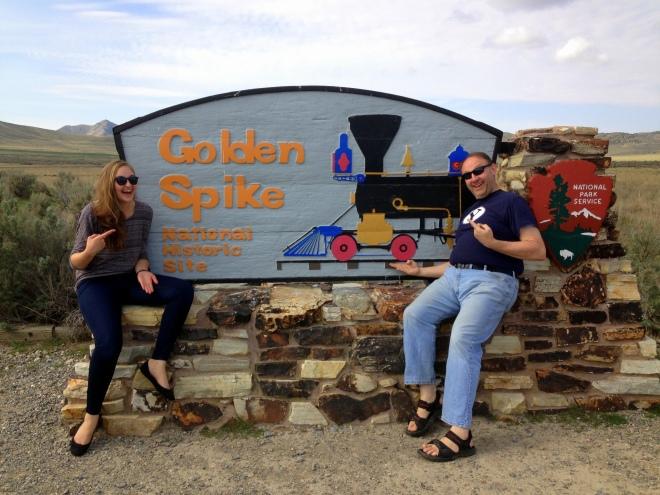 Golden Spike Historic Site Sign