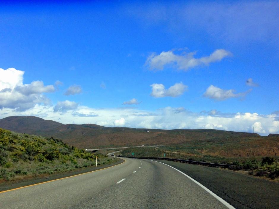 Driving through Yakima Valley