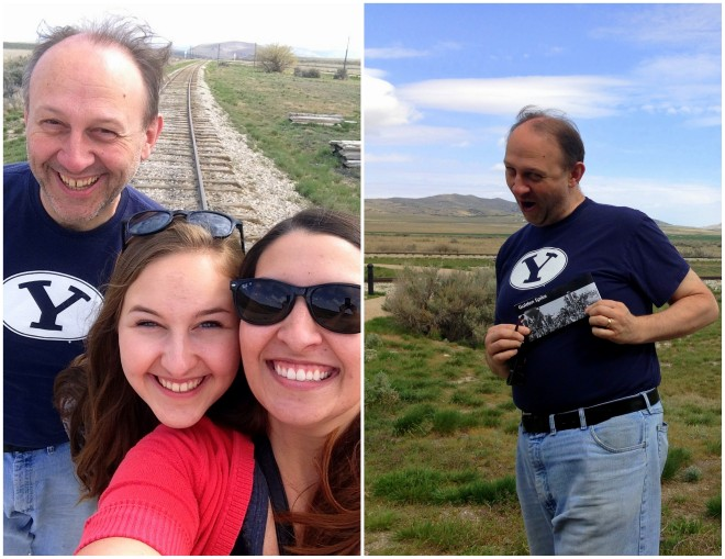 On the tracks at Golden Spike National Historic Site