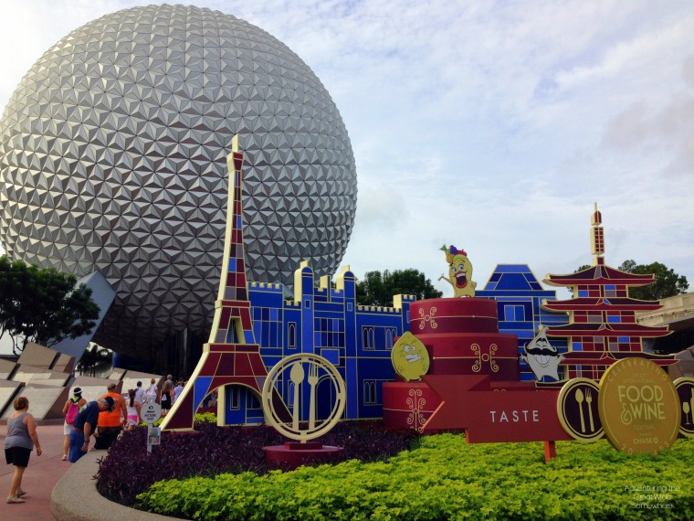 2015 Epcot International Food and Wine Festival Entrance