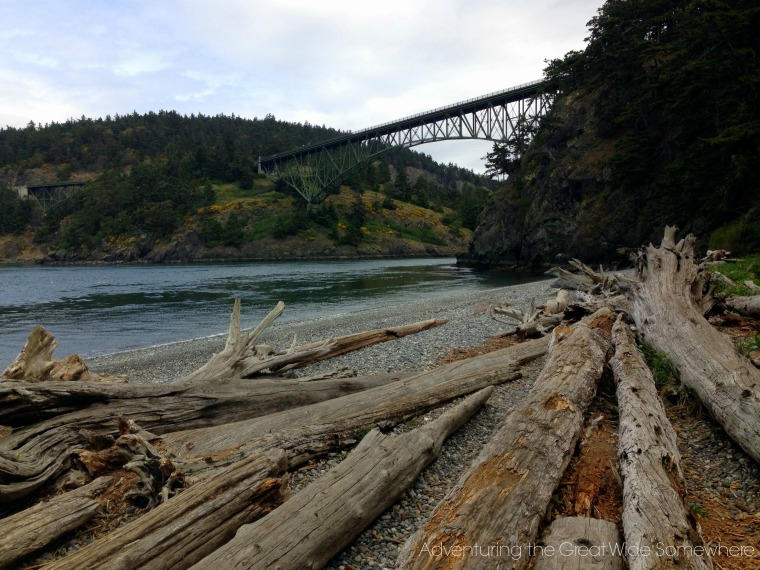 Deception Pass Bridge from North Beach