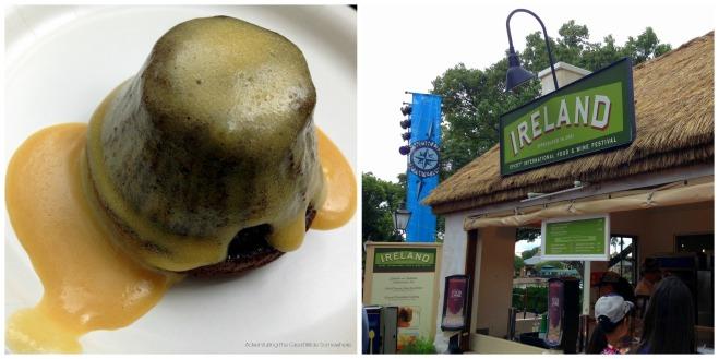 Epcot Food and Wine Fest 2015 Irish Chocolate Pudding
