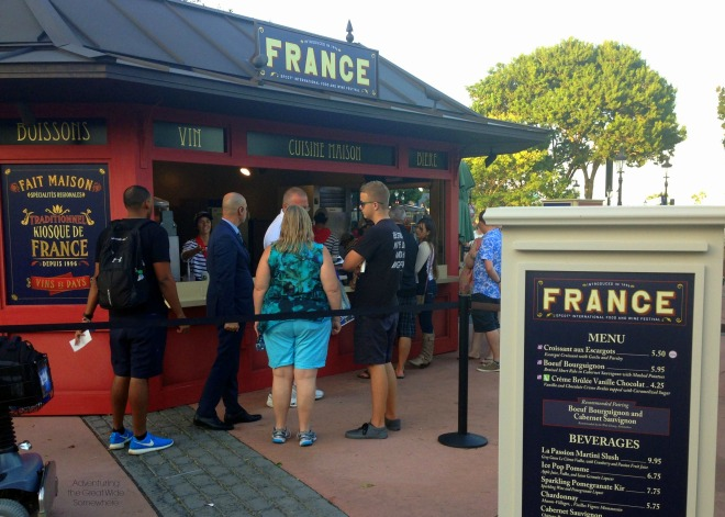 Epcot French Pavilion Food and Wine 2015