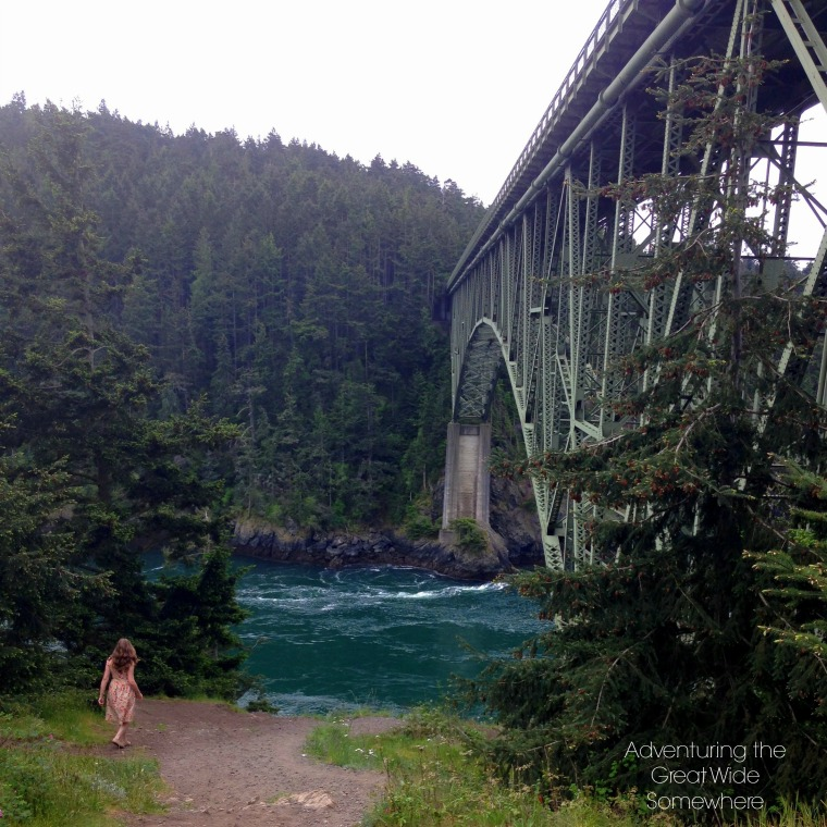 Exploring Beneath Deception Pass Bridge