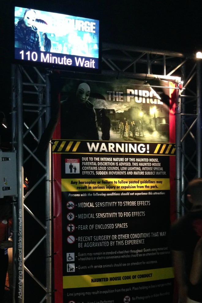 Halloween Horror Nights High Wait Times