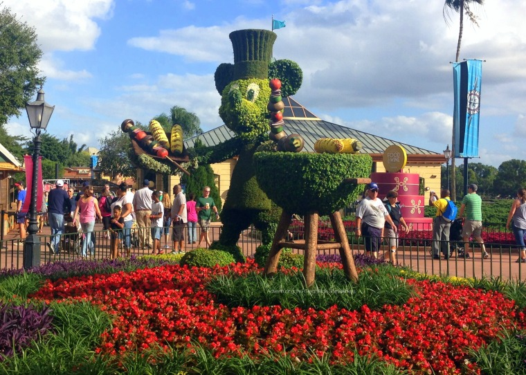 Mickey Mouse Topiary Food and Wine 2015