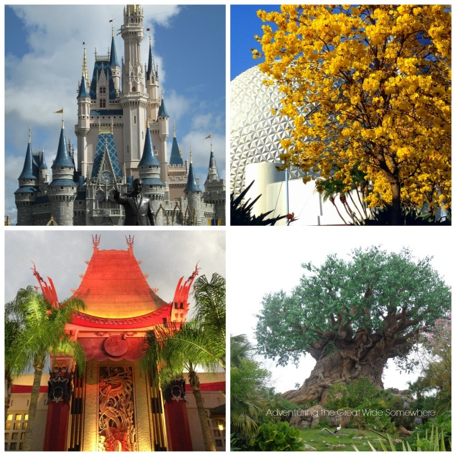 Disney World Four Park Icons