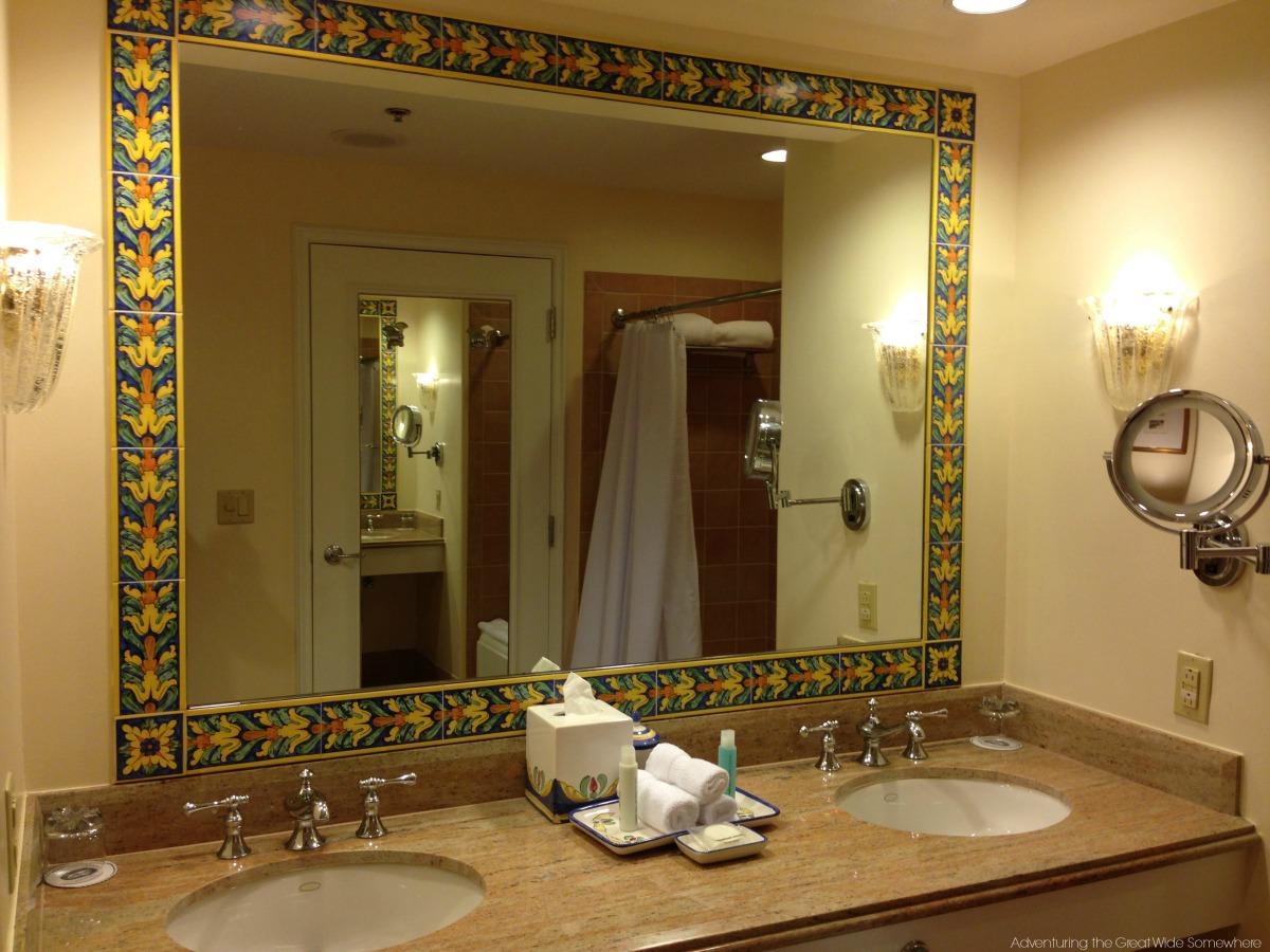 Gorgeous Bathroom Mirror at the Loews Portofino Bay Hotel Orlando