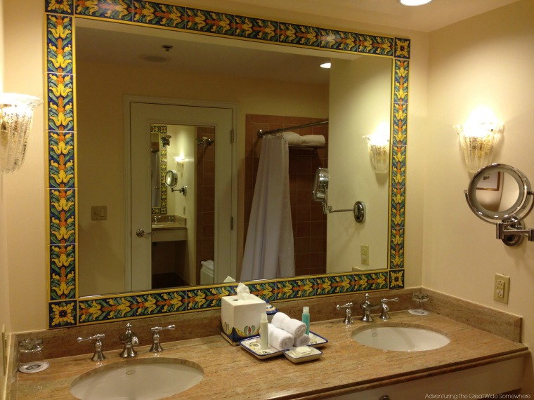 Gorgeous Bathroom Mirror at the Loews Portofino Bay Hotel Orlando