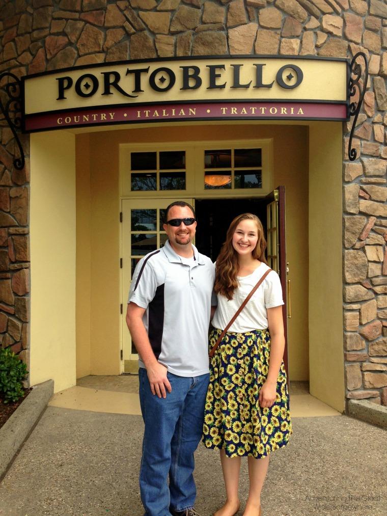 Lunch at Disney Springs Portobello Trattoria