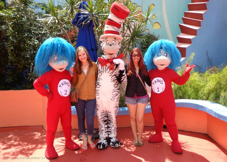 Meeting the Cat in the Hat and his Things at Islands of Adventure in 2013.