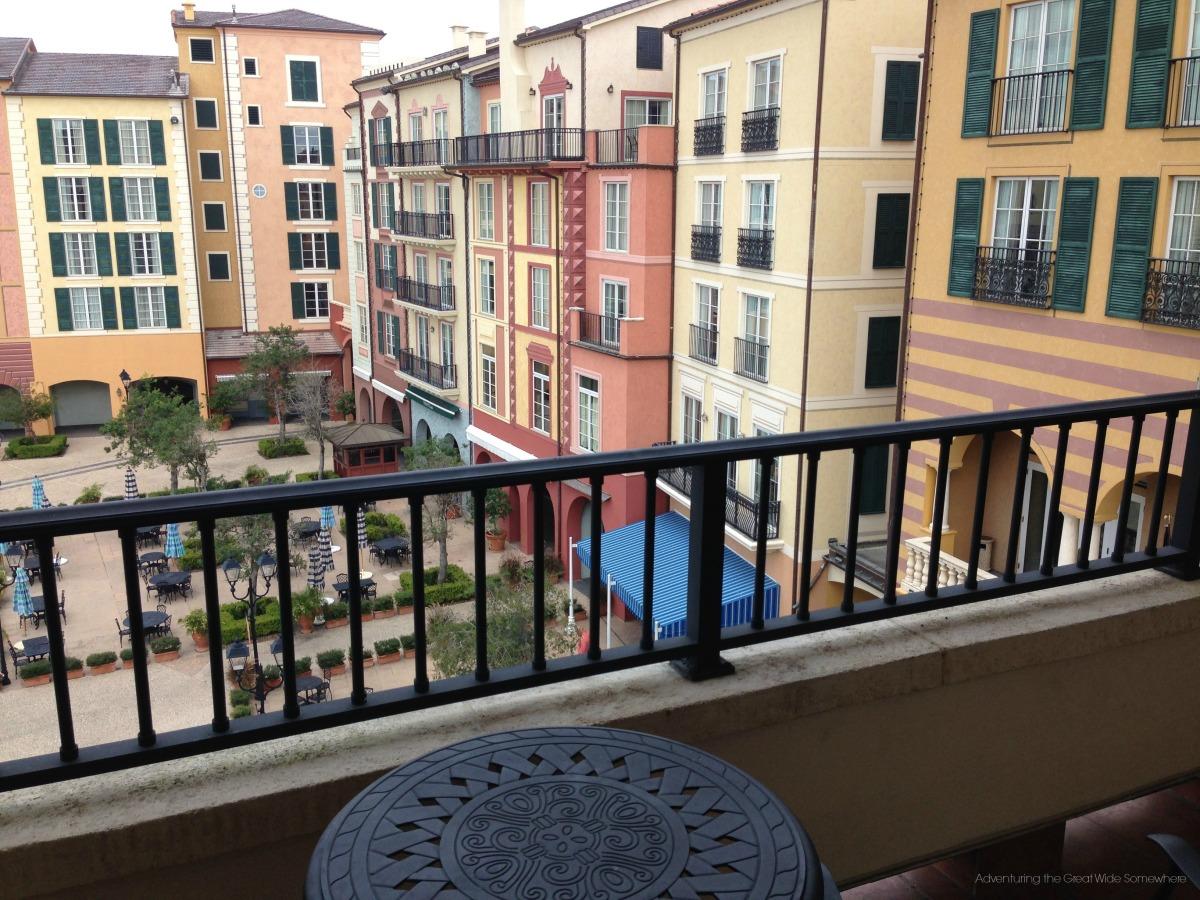 Portofino Bay Hotel View from the Top Floor Balcony
