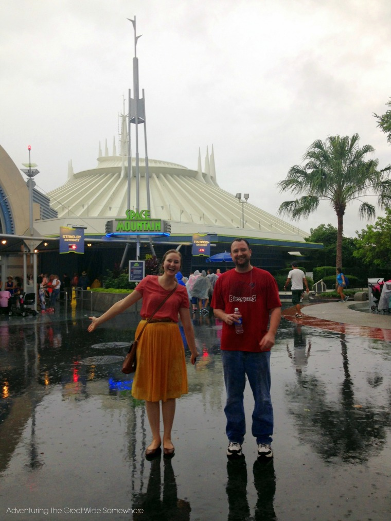 Rainy Day at Space Mountain