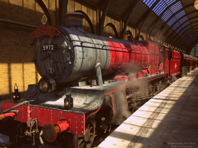 The Hogwarts Express at Platform 9 34