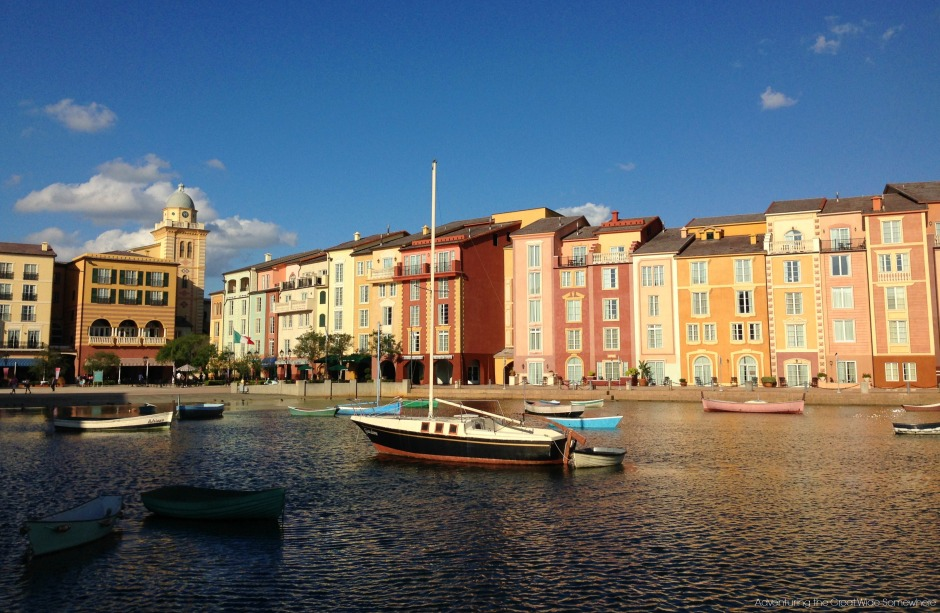 The Portofino Bay Hotel by Day