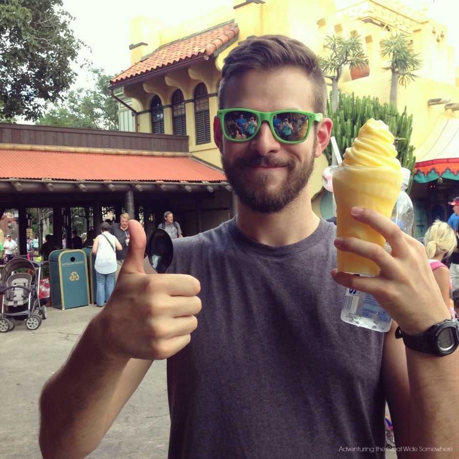 Jared's First Dole Whip at the Magic Kingdom