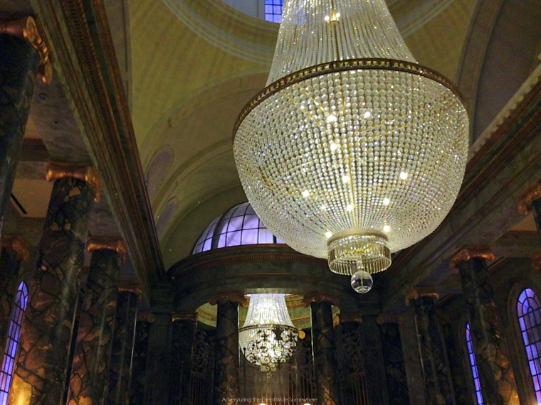 Diagon Alley Chandeliers in the Gringotts Lobbby