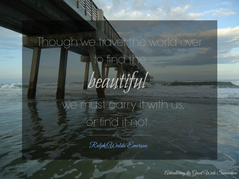 Emerson Though We Travel the World Over Quote