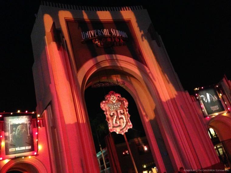 Front Gate of Universal Studios Halloween Horror Nights