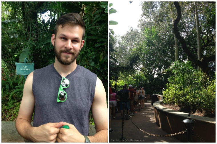 Jared in Line for Tower of Terror Orlando