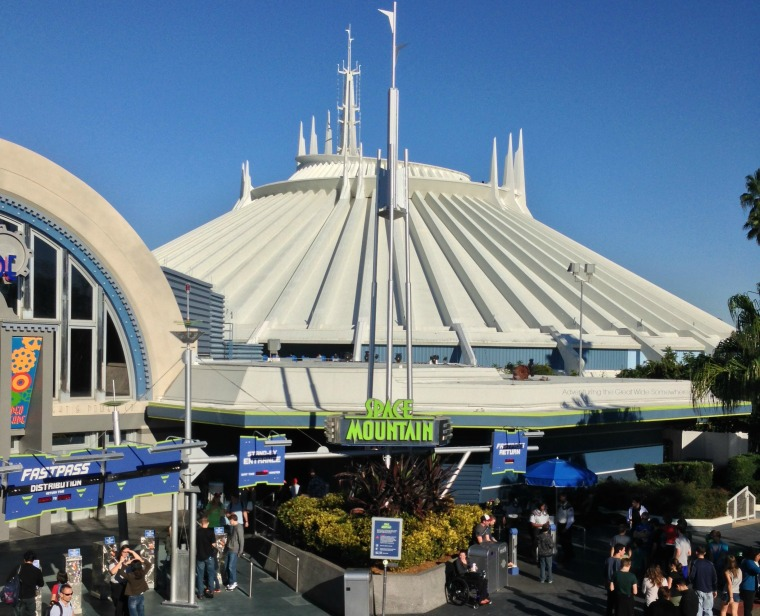 Magic Kingdom Space Mountain Seen From the Tomorrowland Transportation Authority