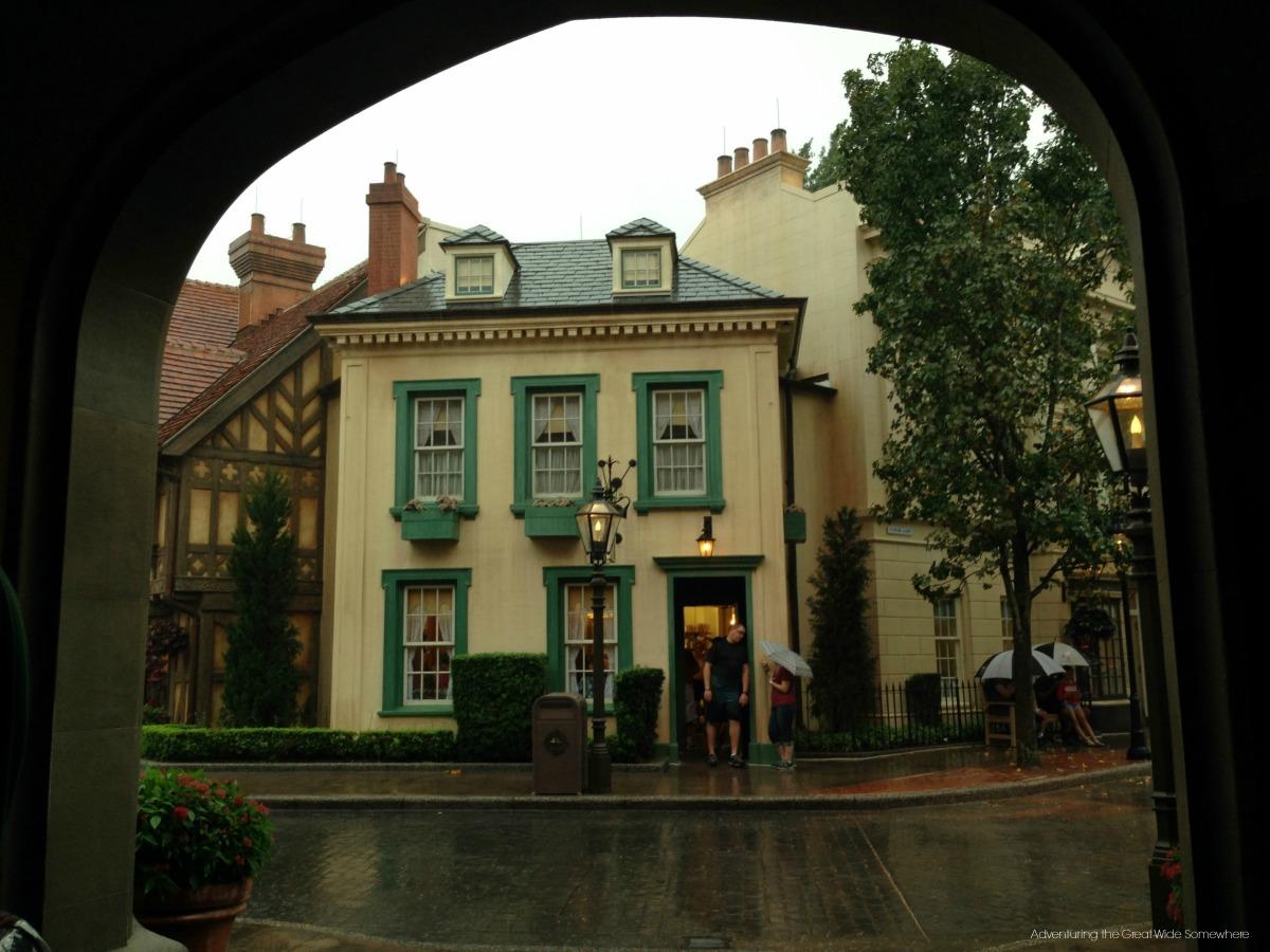 Rainy Day at Epcot's United Kingdom Pavilion