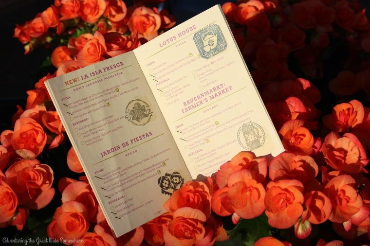 2016 Epcot International Flower and Garden Festival Passport Book