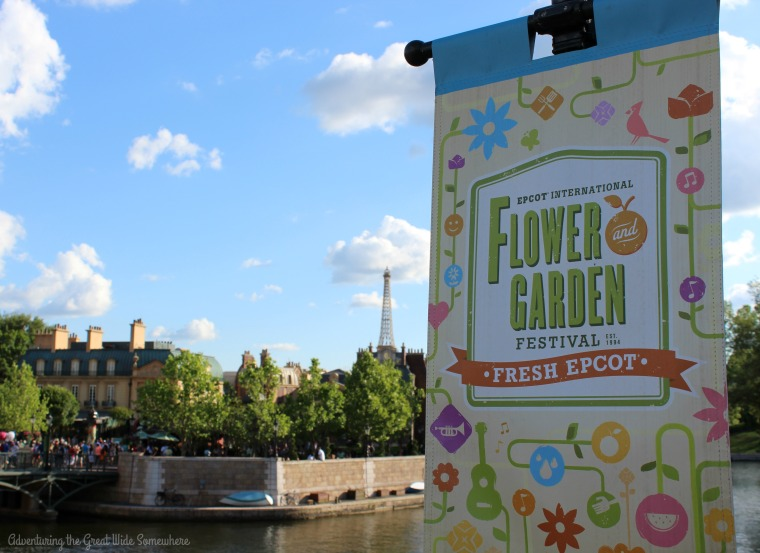 A Sunny Day in Paris at the Epcot Flower and Garden Festival