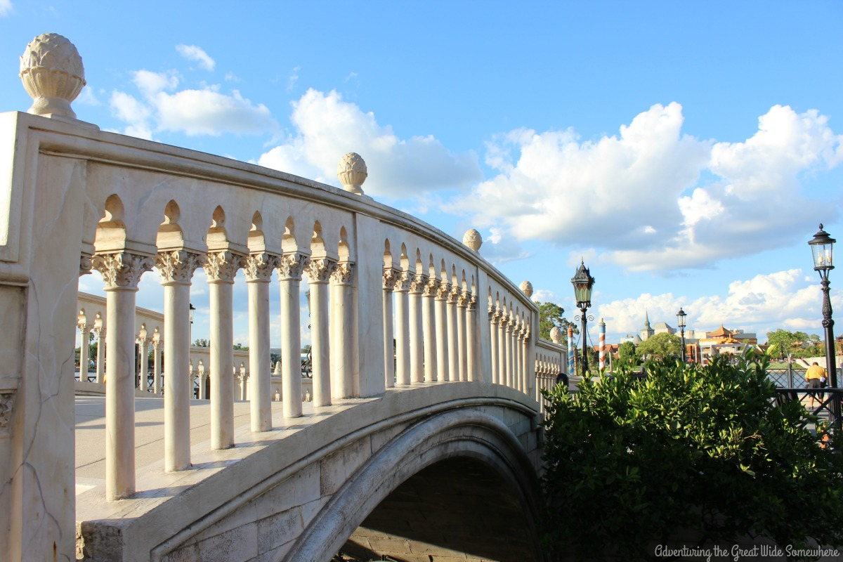 Beautiful Italian Bridge Overlooking World Showcase Lagoon
