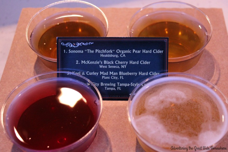 Cider Flight from Epcot's 2016 Cider House Outdoor Kitchen