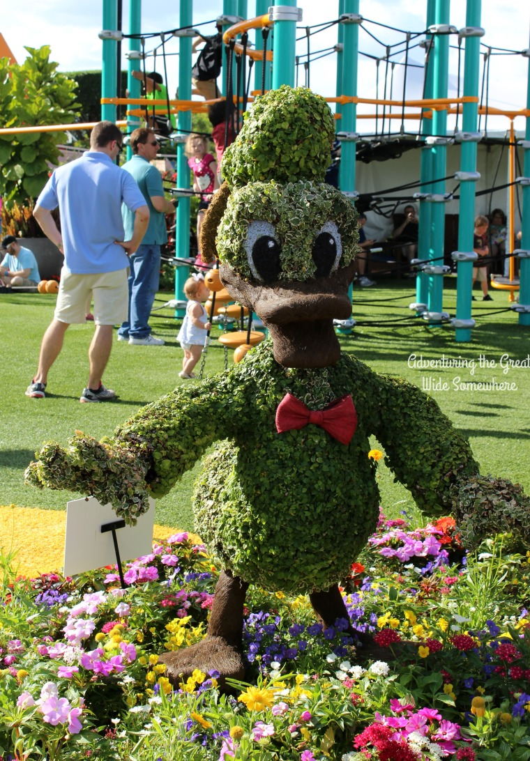Donald Topiary at the Epcot Flower and Garden Fest