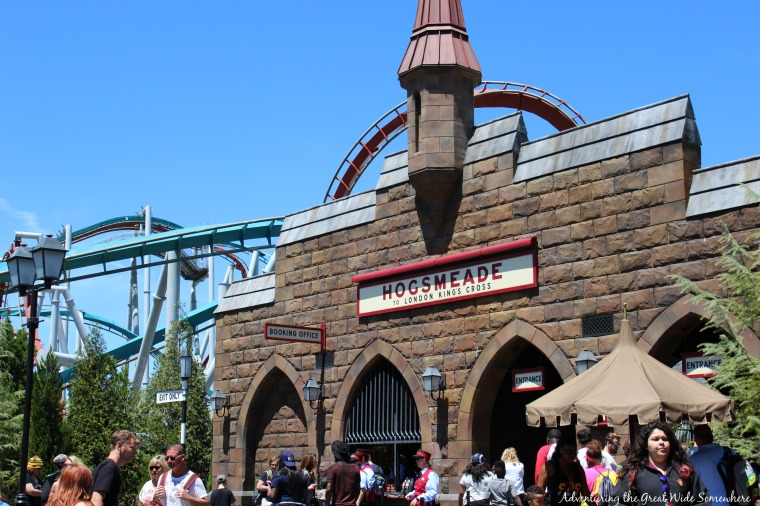 Entrance to Hogsmeade Station in the Wizarding World of Harry Potter