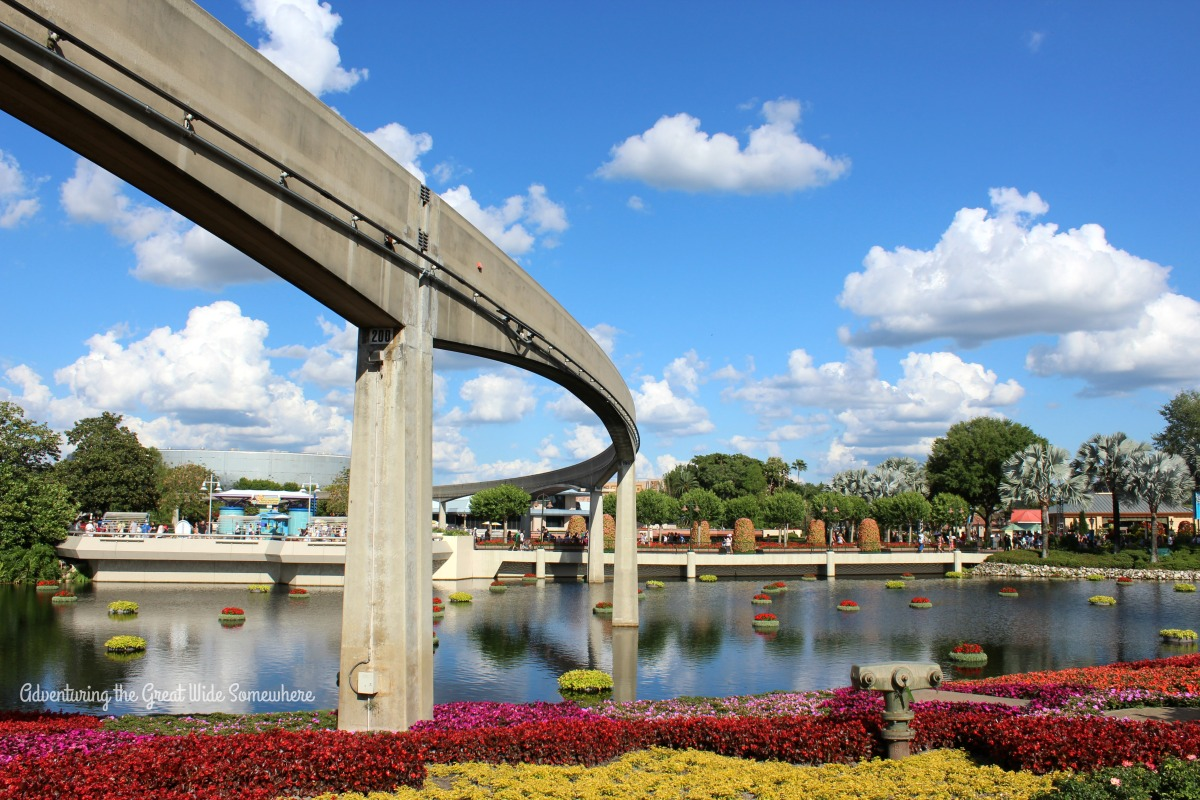 Epcot Monorail Tracks on a Sunny Spring Day