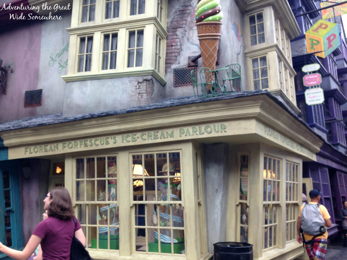 Florean Fortescue's Ice Cream Parlor in Diagon Alley Orlando