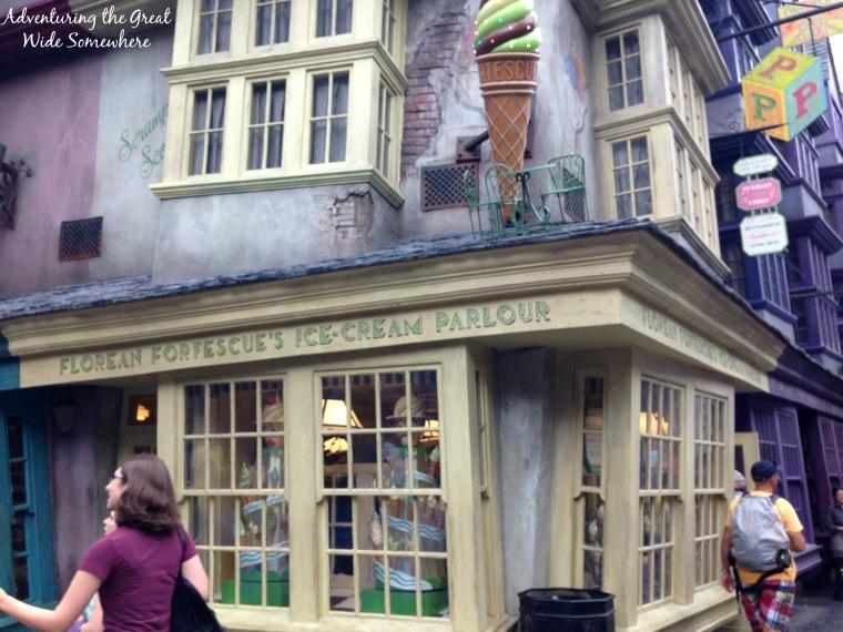 Florean Fortescue's Ice Cream Parlor in Diagon Alley Orlando