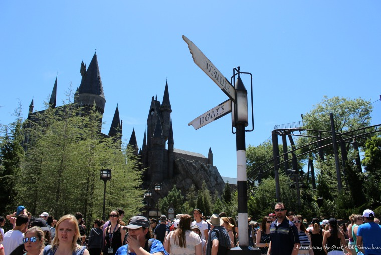 Hogsmeade Hogwarts Directional Sign at the Wizarding World of Harry Potter in Orlando