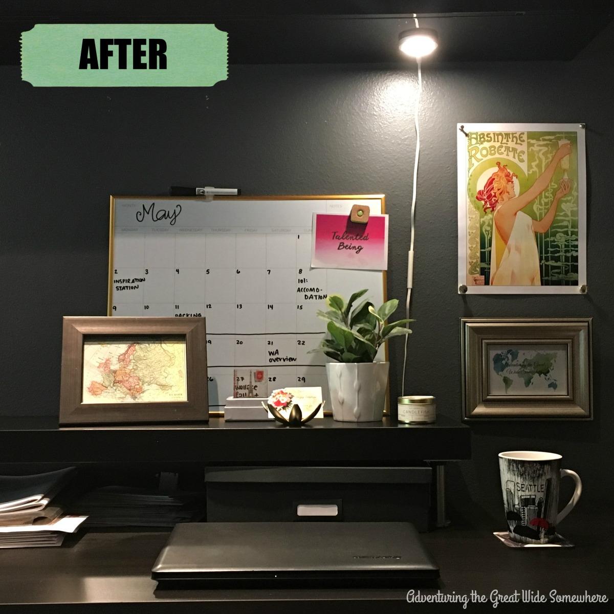 Messy Desk Makeover, After Photo