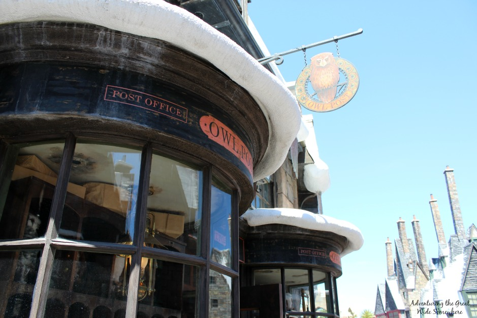 Ollivanders and Owl Post at the Wizarding World of Harry Potter Hogsmeade