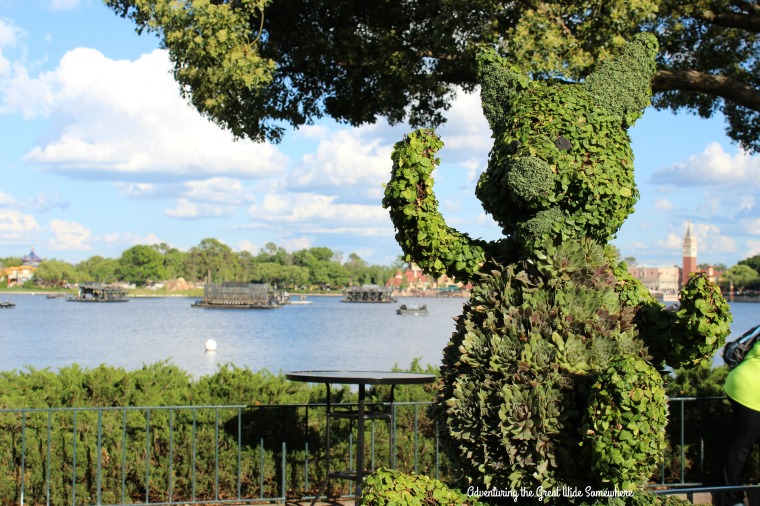 Piglet Topiary at the 2016 Epcot Flower and Garden Festival