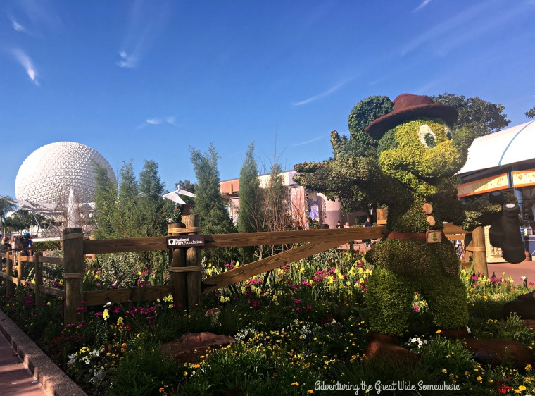 Ranger Mickey and Epcot Ball at the 2016 Flower and Garden Festival