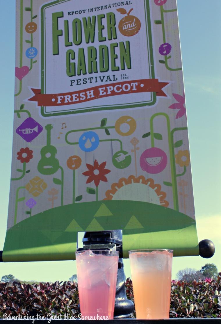 Rose Margarita and Elderflower Sangria at the 2016 Epcot Jardin de Fiestas Booth
