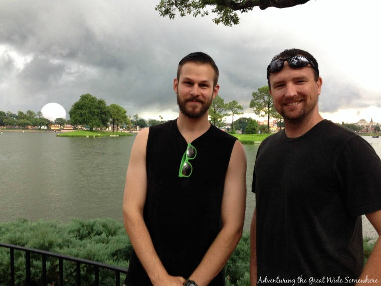Two Handsome Gents at Epcot's Food & Wine Festival.jpg