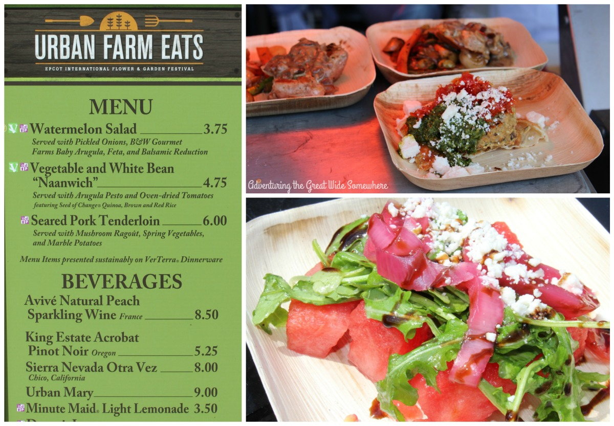Urban Farm Eats Kitchen Menu, Featuring Watermelon Salad, Naanwich, and Seared Pork Tenderloin