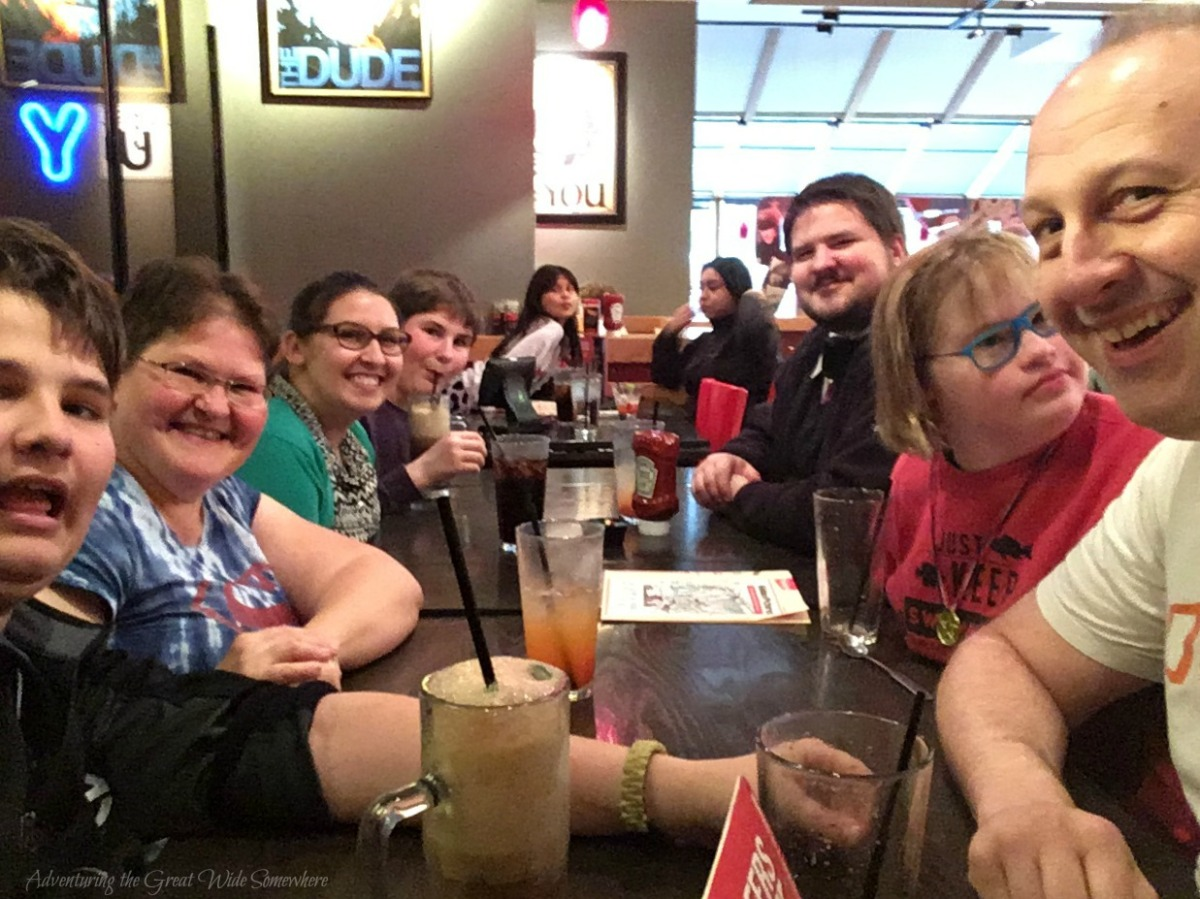 Farewell Dinner for Eric at Red Robin