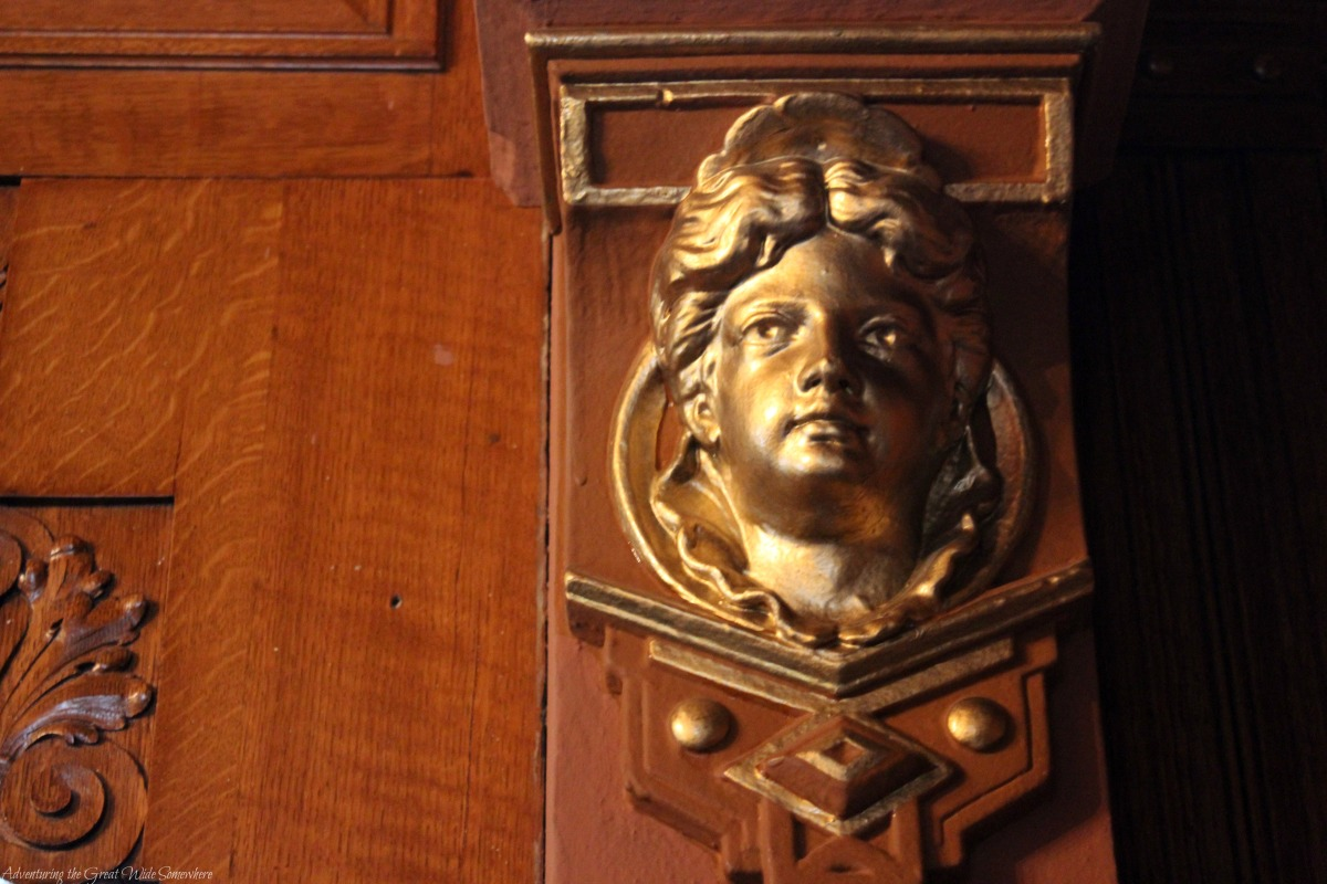 A Golden Cherub Watches Over Craigdarroch Castle