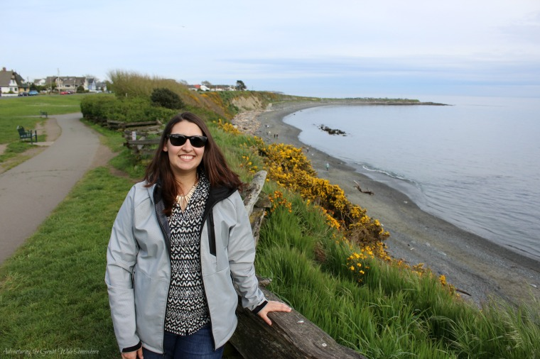 Beth at the Beach in Victoria, British Columbia