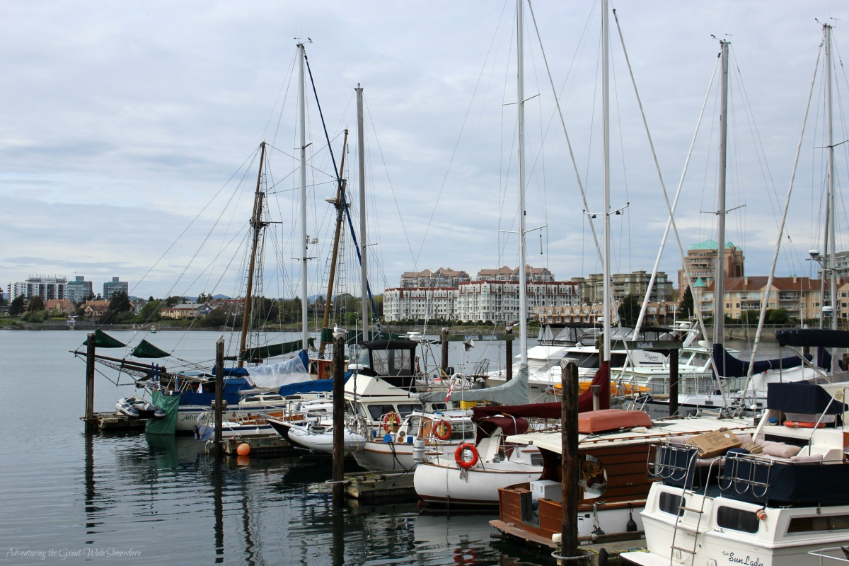 Boats Docked by Fisherman's Wharf, Victoria B.C.