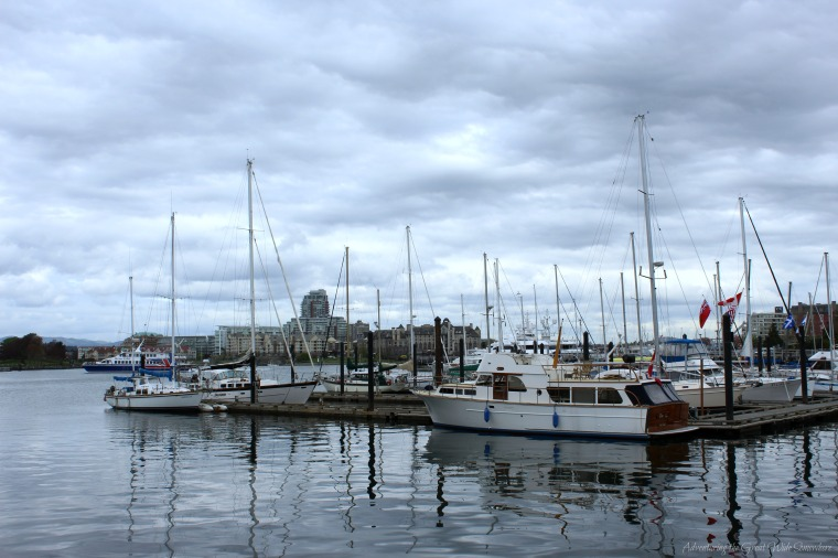 Boats in the Downtown Harbor of Victoria, B.C.