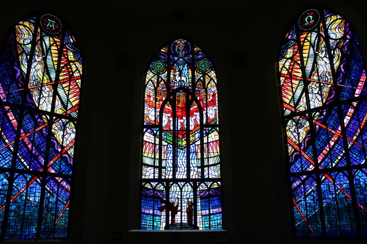 Colorful Stained Glass at Victoria's Christ Church Cathedral